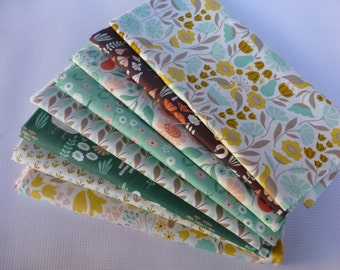 Fat Quarter Bundle, Organic Cotton Fabric - Cloud 9 Fabrics, Park Life, 8 Fat Quarters