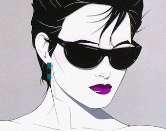Final Sale 80s New Wave Costume Color Block Enamel Floating Turquoise Black Dangle Pierced Earrings