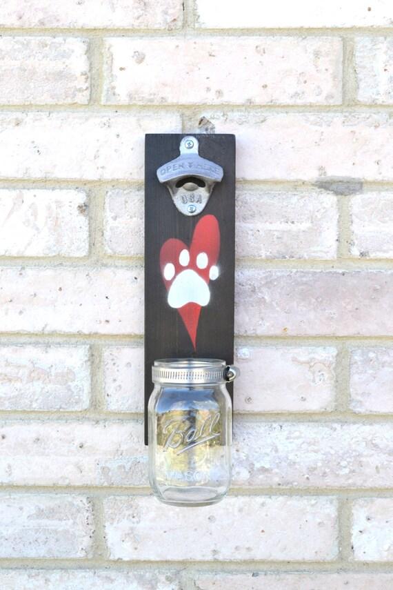 animal lovers wall mounted bottle opener cap catcher. Black Bedroom Furniture Sets. Home Design Ideas