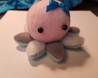 Pink Multicolor Octopus Plushie