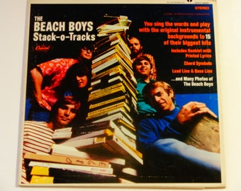 ON SALE RARE Vinyl - The Beach Boys - Stack-O-Tracks w/ Sheet Music Booklet - Original Capitol Records 1968 - Vintage Gatefold Lp Record Alb