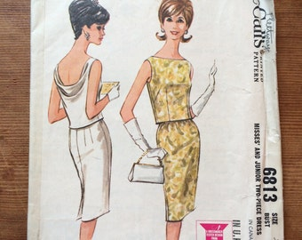 McCall's Fleetway 6813 misses' and junior two-piece dress bust 32