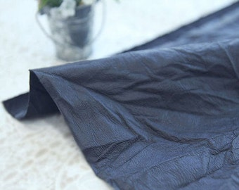 Fake Leather Fabric, Imitation Leather, Artificial Leather, Synthetic Leather Fabric - Navy - 55 Inches Wide - By the Yard 83105
