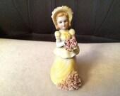 1930s Lefton #69258 Lady in Yellow Dress Miniature Figurine