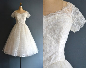 Jacqui / 50s wedding dress / vintage wedding dress
