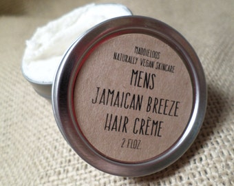 "VEGAN-Mens""Jamaican Breeze""Hair Creme 2oz. Tin"