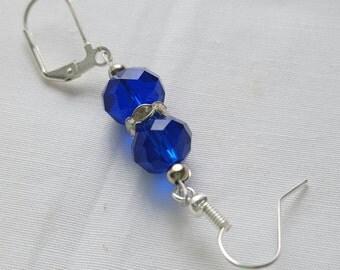 SALE Blue sparkle Portuguese knitting pin