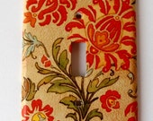 Amber and Dark Orange Light Switch Cover