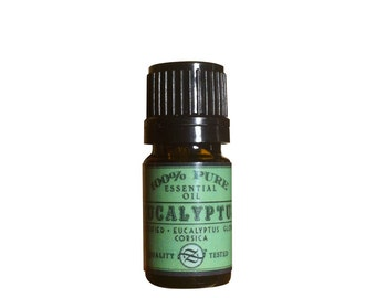 Eucalyptus Essential Oil, Unrectified, Eucalyptus globulus, Corsica - 5 ml