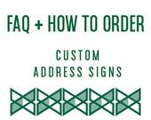 Custom Mosaic ADDRESS SIGNS FAQ For Ordering from Green Street Mosaics