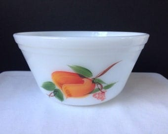 Federal Glass - Mixing Bowl - Gay Fad Fruits - Ovenware - 7 Inch
