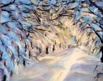 "Fine Art 5 X 7 Print of my Original Painting ""Tunnel of Light"""