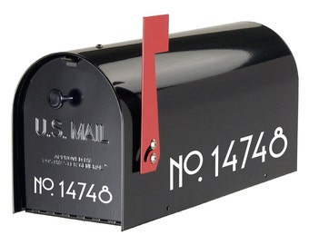 Craftsman Mailbox Numbers Vinyl Art  FREE SHIPPING outdoor stickers numbers for mailbox house idenfication postal stickers mailing decals