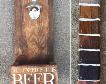 All I Need Is This Beer Bottle Opener