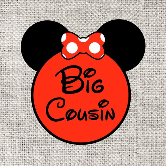 INSTANT DOWNLOAD Disney Big Cousin Printable DIY Iron On to Tee T-Shirt Transfer - Digital File