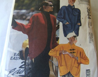 McCalls 3944 uncut vintage womans topper size Medium