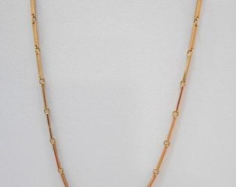 "Vintage 18"" Gold Tone Metal Link Necklace (5087) (BP)"