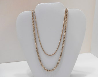 Vintage Double Strands Chain Necklace (4908) (BP)