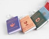 Outlander Series Miniature Book Bracelet - Outlander Jewelry, Doll House Book Miniatures