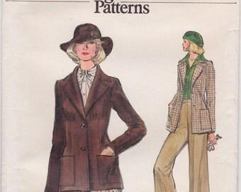 FF Very Easy Vogue 9321 Women's Wide Lapel Jacket, Bias Skirt & Wide Legged Pants 1970s Sewing Pattern, Size 16, Bust 38 UNCUT