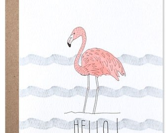 Hello! Flamingo Card