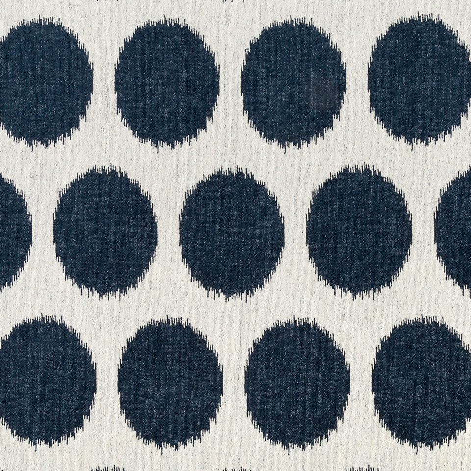 navy blue white upholstery fabric large scale polka dot. Black Bedroom Furniture Sets. Home Design Ideas