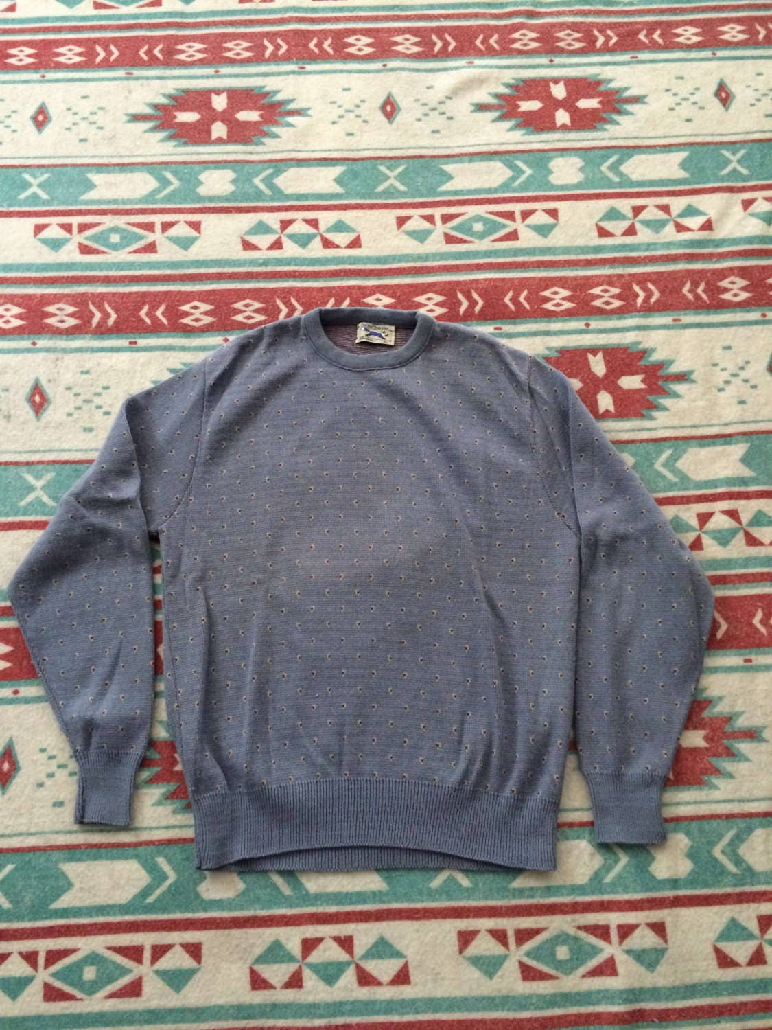 vintage jcpenney the fox sweater patterned 80 39 s sweater. Black Bedroom Furniture Sets. Home Design Ideas