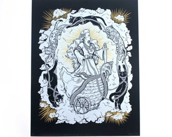 Freyja: Queen of Cats - Limited Edition Print