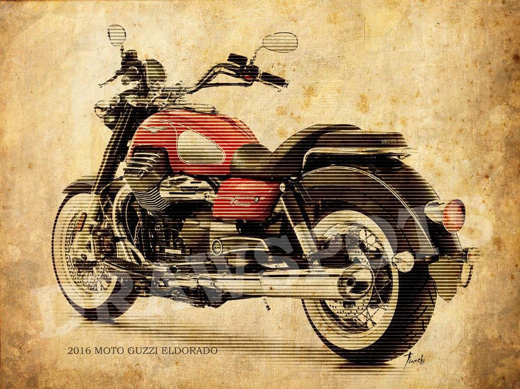 motorcycle moto print line guzzi poster background posters eldorado backgrounds artwork larger request drawspots sizes prints etsy usd fine