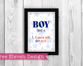 Boy Definition PRINTABLE Wall Art