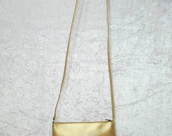 GOLDEN TONE PURSE 90s Bags Shoulder Bags Golden Pouches Small Pouch In Gold Tone Elegant Small Bag Cocktail Purse In Gold