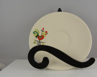 Rooster Weather Vane Vintage China Saucer