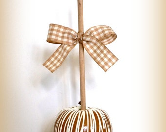 Fake Carnival Caramel Candy Apple Circus Ornament Table Centerpiece Decoration