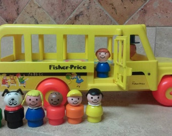 Vintage Fisher Price Little People School Bus