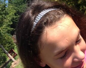 Rhinestone Elastic Headband-You Choose Color