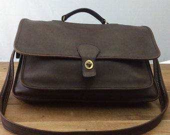 Vintage Coach Leather Messenger Briefcase Laptop Bag