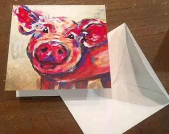 Pig gift card set, enclosure cards, gift cards