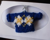Hand Knitted Golf Jumper Card for Birthdays and Fathers Day