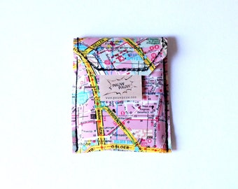 BERLIN city map party wallet upcycling unque piece