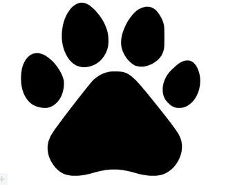Dog paw decal