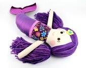 mermaid doll | mermaid cloth doll | plush toy  | softie doll  |  little mermaid  | serafina doll