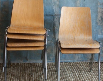 Steam Bent Plywood Dining Chairs