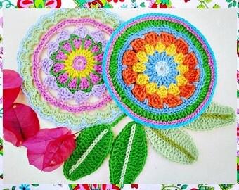 Leyllas  Mandalas and Leafs Crochet Patterns