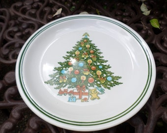 Vintage Carlton China Stoneware Cake/Bakery Servign Plate/Platter-Holiday