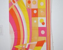 60s Emilio Pucci Geometric Print Cotton Fabric 1960s Pucci Print Fabric Designer Dress Fabric Emilio Pucci New Old Stock Vintage Fabric Mint