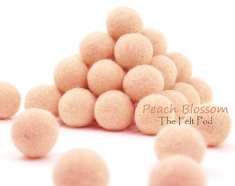 cl-pb // Felt Balls // Felt Poms // Wool Beads // Color PEACH BLOSSOM // Sizes 1.0 cm, 1.5 cm, 2.0 cm, 2.5 cm, 3.0 cm, 4.0 cm