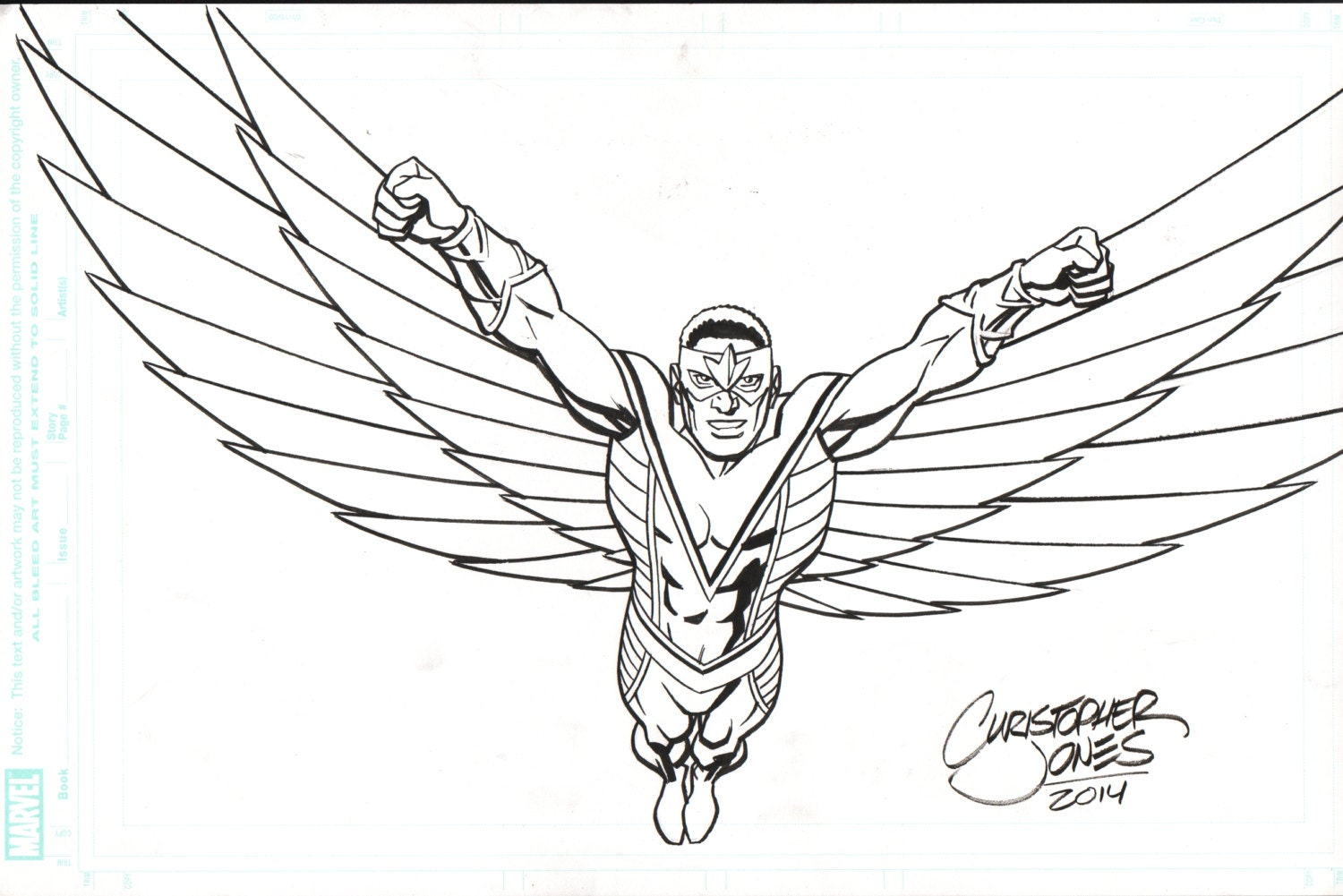 marvel falcon coloring pages - photo#25