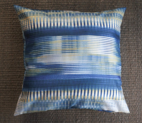 modern floor pillow cover 26x26 blue retro pillow cover
