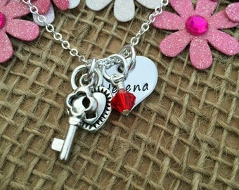 Romantic Gift for Her, Personalised Valentine's Gift, Valentine Gift for Girlfriend, Personalised Stainless Steel Necklace for Women