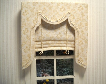 Made-to-order,  Drapery for the Dollhouse,  1:12 scale